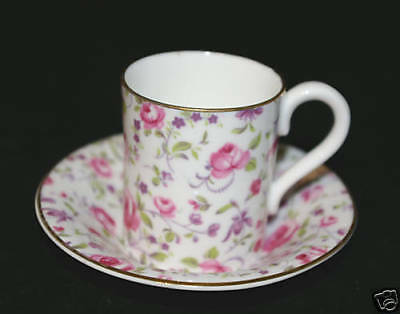 English Chintz Coffee Can Duo Fondeville Embassy Ware