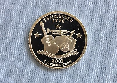2002-S Tennessee Silver State Proof Quarter Ultra Deep Cameo