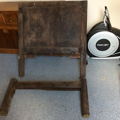Antique wooden bedstead very old