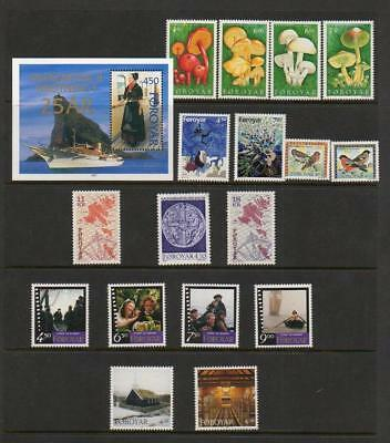 (C242) Foroyar /  FAROE ISLANDS  YEAR SET 1997 MNH MORE LISTED