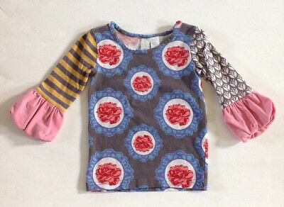 Matilda Jane Paint By Numbers Picasso Puffer Tee Top 2 2T