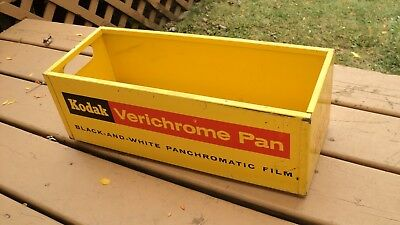 Vintage Kodak Metal Storage Display Verichrome Pan Film Bin Box