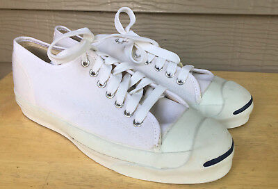 VTG DEADSTOCK USA MADE White Converse Jack Purcell Shoes Sneakers 8.5 USA MINT