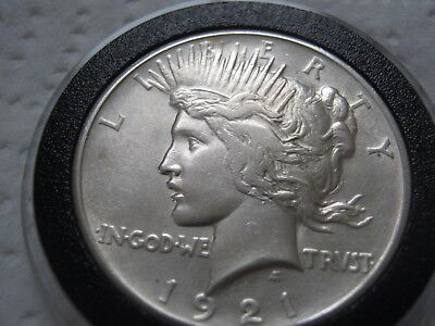 1921-P Peace Silver Dollar=High Relief=Excellent