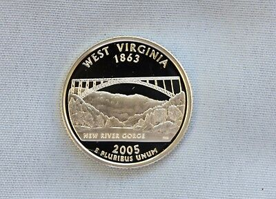 2005-S West Virginia Silver Proof State Quarter Ultra Deep Cameo