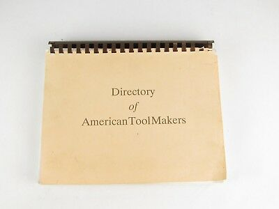EAIA DATM Draft Edition Early American Industries Directory of American Toolmkrs