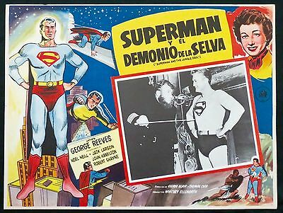 SUPERMAN AND THE JUNGLE DEVIL George Reeves LOBBY CARD MEXICAN 1954 ORIGINAL