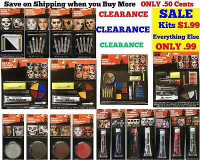 HALLOWEEN Makeup Kit Zombie Clown Scar Effect Professional Face Painting Theater