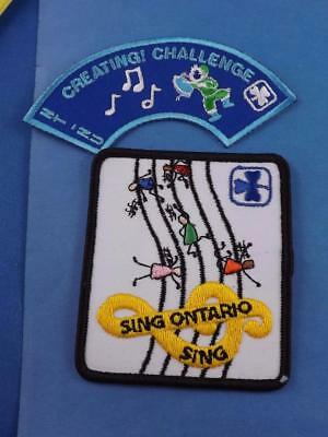 Girl Guides Of Canada Patch Lot Creating Music Notes Challenge Sing Ontario