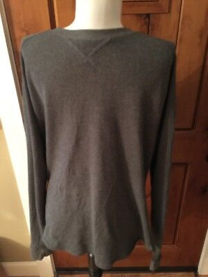 Men's Under Armour Loose Fit Gray Thermal Knit Long Sleeve Shirt XL
