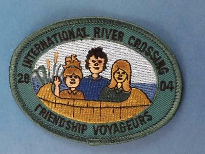 Girl Guides Patch International River Crossing 2004 Friendship Voyageurs  Badge