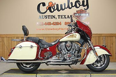 Indian Chieftain Two-Tone  2015 Indian Chieftain Two-Tone Red/Ivory - *SUPER CLEAN!* - *WE FINANCE & SHIP!*