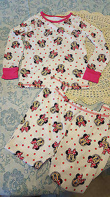 NEW  Cuddl Duds Girl's Minnie Mouse Base Layer 2 Pc  Crew Top & Pant Sz.4T
