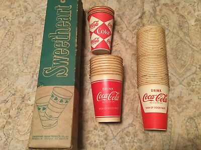 Vintage Sleeve of Coca Cola Cups