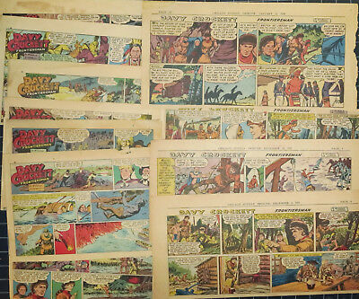 DAVY CROCKETT FRONTIERSMAN - RARE - 10 1956 comic strips by McArdle and Herron