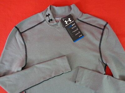 NWT Under Armour Mens S Compression Mock Long Sleeve Shirt ColdGear 1265648
