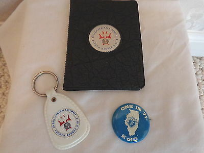3 Vintage Knights of Columbus Fourth Degree Artifacts (#0369)