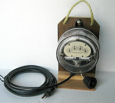 VINTAGE Duncan Type MD 60 WH PR 1/3  1 PHASE  Electric Meter On Test Board