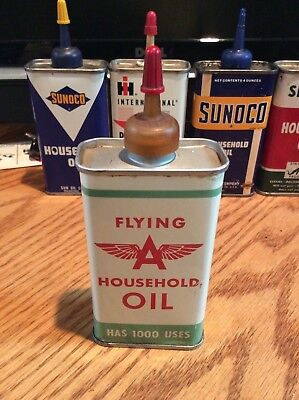 VINTAGE Tidewater flying a oiler oil can Household version    4 oz