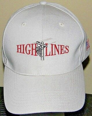 High Lines Hat Cap Safety First Power Electric Line Utility Pole Strapback