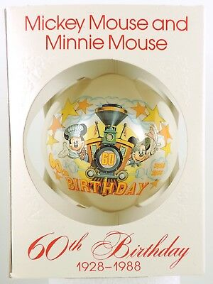 Schmid MICKEY AND MINNIE MOUSE 60TH BIRTHDAY Disney Christmas Ornament