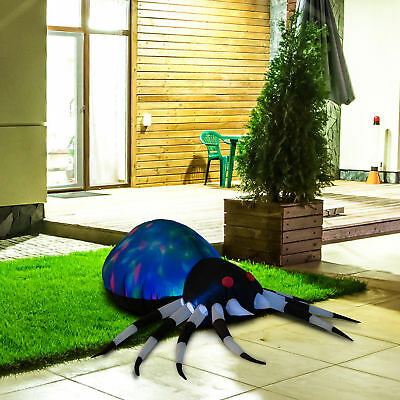 2 Ft Tall Lighted Halloween Inflatable Airblown Spider Outdoor Lawn Decoration