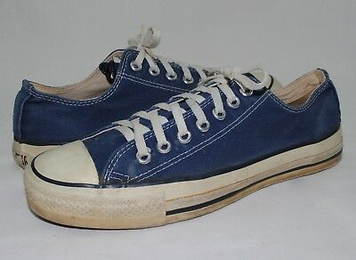 Vintage USA Made Converse All Star Chuck Taylor Blue Canvas Low Top Sneaker 8.5