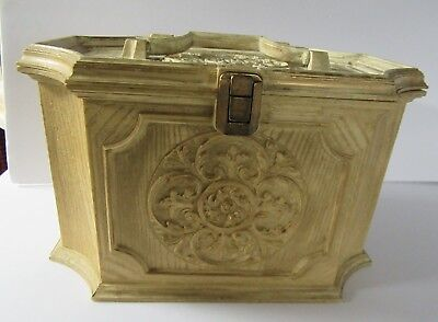 Vintage Max Klein Fancy Sewing Chest / Box French Provincial Style Off White