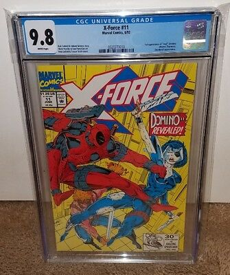 X-force 11 CGC 9.8 1st Appearance of Domino