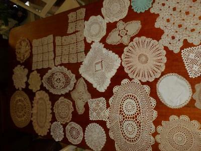 *Lot 3* X 28 Vintage  Crocheted Doilies -Doyleys Assorted Sizes