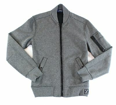 Polo Ralph Lauren NEW Gray Mens Size Small S Full Zip Knit Jacket $185 #139