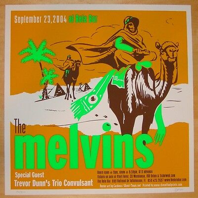 2004 The Melvins - Tallahassee Silkscreen Concert Poster s/n by Pete Cardoso