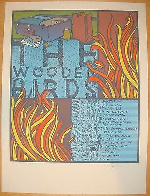 2011 The Wooden Birds - US/Canada Tour Silkscreen Concert Poster S/N by Jay Ryan