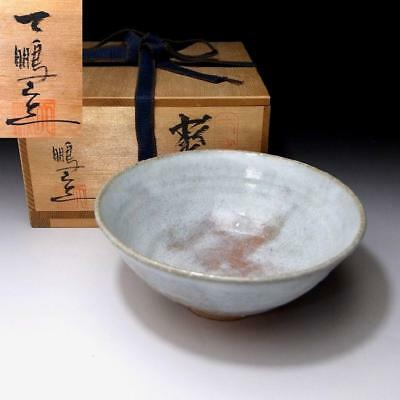 QM3: Vintage Japanese Tea Bowl, Hagi Ware by 1st Class potter, Tanga Hirose