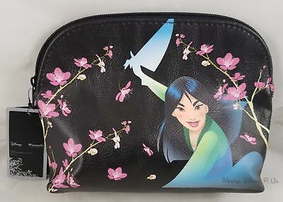 New Loungefly Disney Mulan Believe In Who You Are Makeup Bag Cosmetic Tote Purse