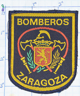 Spain, Zaragoza Bomberos Fire Dept Woven Patch