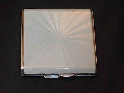 Vintage Enamel and silver compact purse mirror Birmingham 1936 by Adie Bros Ltd