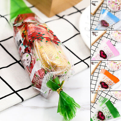 100PCS Triangle Transparent Bags Popcorn Candy Gift Bags Birthday Party Supply