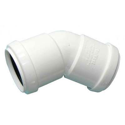 Push-Fit White Waste System 40mm 135° (45°) Bend WPOB40W