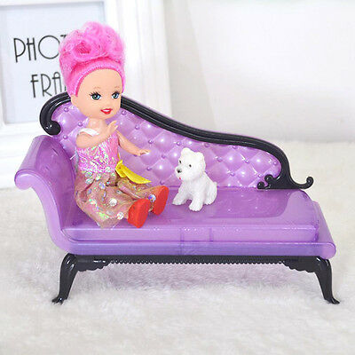 Baby Girl Princess Dreamhouse Sofa Chair Furniture Toys Doll Barbie accessory To