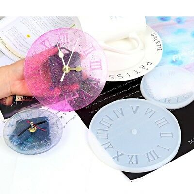 Roman Numerals Silicone Jewelry Mold DIY Pendant Clock Shaped Craft Mold New