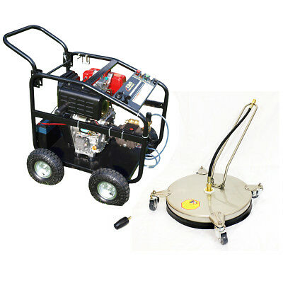£13/WEEK on LEASE KM3600DX Diesel Pressure Washer Driveway Pack + Rotary unit
