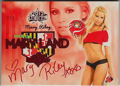 2012 Benchwarmer National Mary Land Auto #6:mary Riley #1/1 Of One Red Autograph