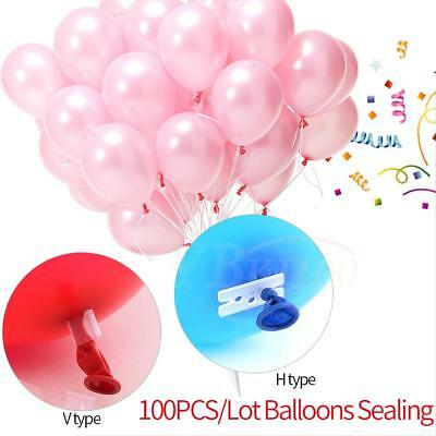 100pcs Balloon clip ties for sealing helium gas air balloons party quick & easy