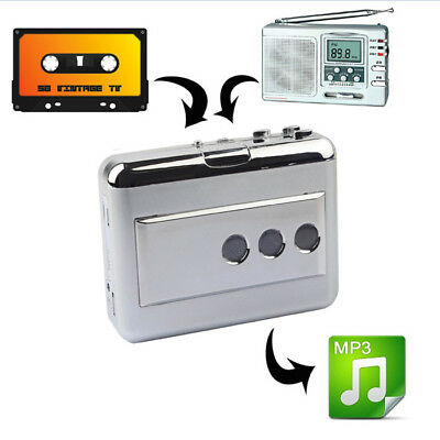 Portable Tape to Super Cassette Capture MP3 Player Converter w/ USB Cable Hot CO