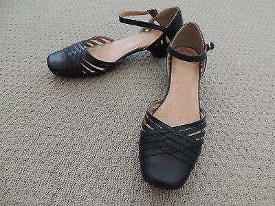 ✿ Ladies 'colorado' Black Leather Shoes Sz 8.5 ✿