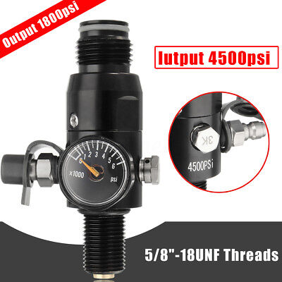 Paintball Valve Regulator 4500psi HPA Air Tank Output 1800psi 5/8''-18UNF Thread