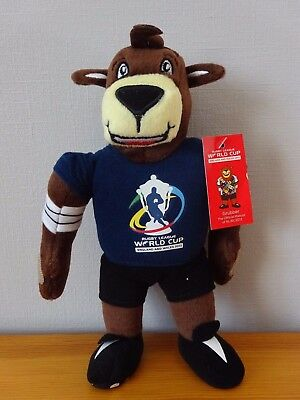 Grubber Chien Mascotte Rugby League World Cup England Wales 2013 Peluche 22 Cm