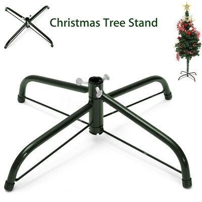 Christmas Tree Stand Mount Green Metal Holder Base Cast Iron Support 4Feet Decor