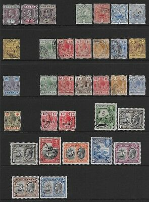 Grenada  Collection Of Used Ed Vii & Sg 143   Good/fine